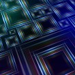Abstract blue green background with shining multicolored squares — Stock Photo