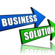 Business solution in arrows — Stock Photo
