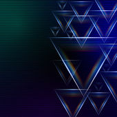 Abstract blue green background with shining multicolored triangl — Stock Photo