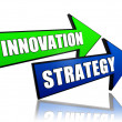 Innovation strategy in arrows — Stock Photo #25296661