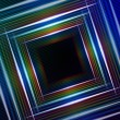 Abstract blue background with shining multicolored squares — Stock Photo