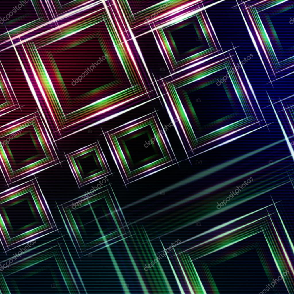 五彩��f�x�_抽象蓝紫色背景与绿色闪亮的五彩的正方形和灯— photo by marinini