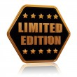 Limited edition five star hexagon button - Stockfoto