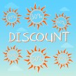 Stock Photo: Summer discount with different percentages in suns