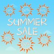Summer sale with different percentages in suns — Stock Photo #25679191