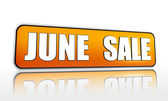 June sale yellow banner — Stock Photo