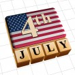 Forth of July — Stock Photo