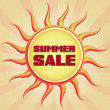 Stock Photo: Vintage summer sale