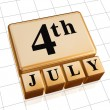 Golden fourth of July — Stock Photo