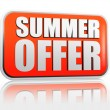 Stock Photo: Summer offer banner