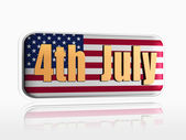 Fourth of July banner — Stock Photo