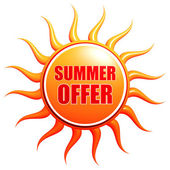 Summer offer in sun — Stock Photo