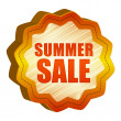 Stock Photo: Label summer Sale