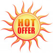 Stock Photo: Hot offer