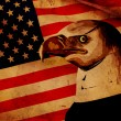 American flag with eagle — 图库照片
