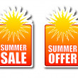 Summer sale Summer offer badges — Stock Photo