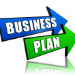 Business plan in arrows — Stock Photo