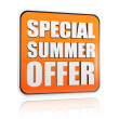Special summer offer orange banner — Stock Photo