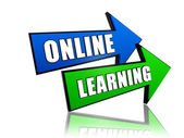 Online learning in arrows — Stock Photo