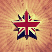 Star with UK flag — Stock Photo