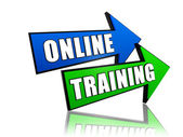 Online training in arrows — Stock Photo