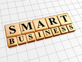 Smart business in golden cubes — Stock Photo