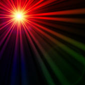 Star with rainbow light rays, lens flare — Stock Photo