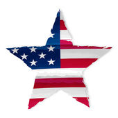 Star in USA flag drawing — Stock Photo