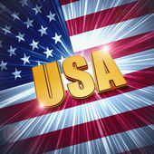 USA with shining american flag — Stock Photo