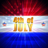 4th of July with shining american flag and stars — Stock Photo