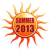 Summer 2013 in 3d sun label — Stock Photo