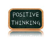 позитивное мышление на доске баннер — Стоковое фото