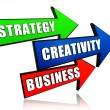 Strategy, creativity, business in arrows — Stock Photo #29285557