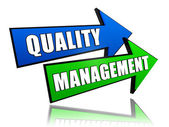 Quality management in arrows — Stock Photo