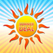 Summer deal in sun over rays — Stock Photo