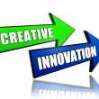 Stock Photo: Creative innovation in arrows
