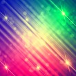 Abstract motley rainbow background with shining lines and stars — Stock Photo