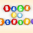 Back to school in color hexagons — Stock Photo