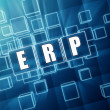 Stock Photo: ERP in blue glass cubes - business concept