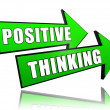 Positive thinking in arrows — Stock Photo