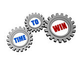 Time for win in silver grey gears — Stock Photo
