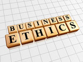 Business ethics in golden cubes — Stock Photo