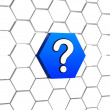 Stock Photo: Question sign in blue hexagon