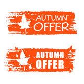 Otoño oferta banner dibujado con la hoja de otoño — Foto de Stock