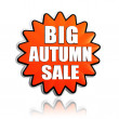 Big autumn sale orange star banner — Stock Photo