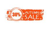 Hösten försäljningen dras banner med 30 procent och hösten lämnar — Stockfoto