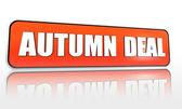 Jesień ofertę pomarańczowy transparent — Zdjęcie stockowe