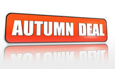 Herfst deal oranje banner — Stockfoto