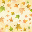Autumn leaves over old paper retro background — Stock Photo #33192973