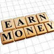 Earn money in golden cubes — Stock Photo